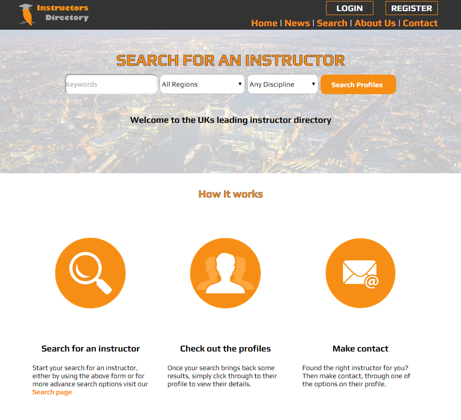 Instructors Directory Homepage Receives a Make Over